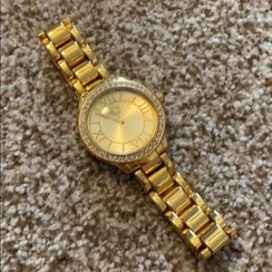 Premier Designs Gold Crown watch